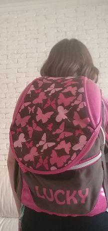 Рюкзак портфель для школы с бабочками ZiBi
