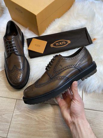 Обувь класса люкс Броги Tods оригинал 45 46 30 см кожа Hogan