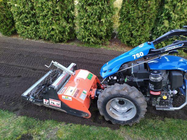 Zakładanie trawników nowy ogród glebogryzarka separacyjna ziemia