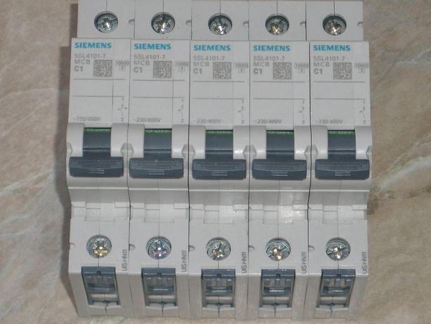 Автомат захисту SIEMENS клас C 1А, 1Р ~230/400V - ( электроавтомат )
