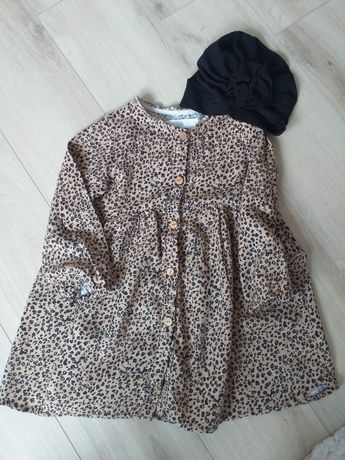 Zara sukienka panterka 104