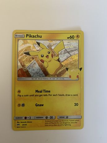 Carta Pikachu Holo 25 aniversario