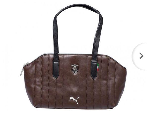Czekoladowa torebka Puma Ferrari