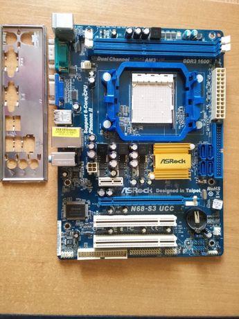 материнская плата ASROCK N68-S3 UCC Soket AM3 DDR3 1600