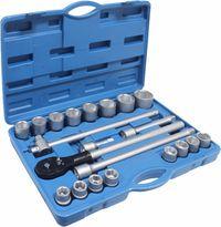 Jogo de Chaves de Caixa 3/4 com 22 ferramentas