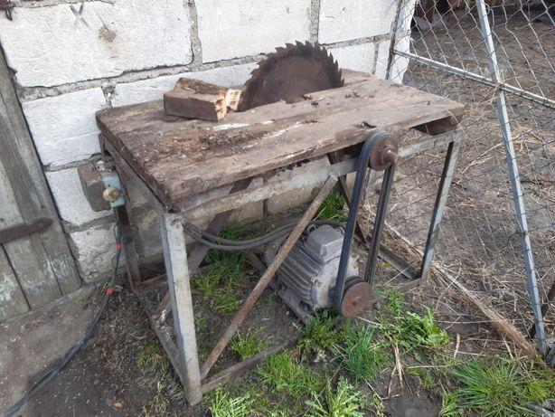 Piła pilarka stołowa krajżaga silnik 5.5KW sprawna kabel 15m