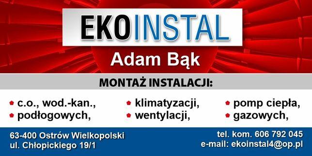 Montaż instalacji c.o. wod.kan , gaz , wentylacji oraz remonty