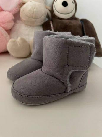Buciki zimowe dziecięce niechodki 12 cm