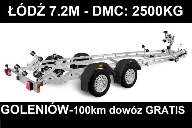 Brenderup 242500B Premium 2500kg łódź 7,2m przyczepa podłodziowa DOWÓZ