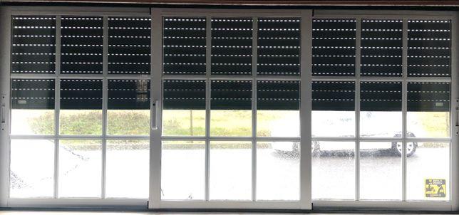 Janelas aluminio vidro duplo (Lote)