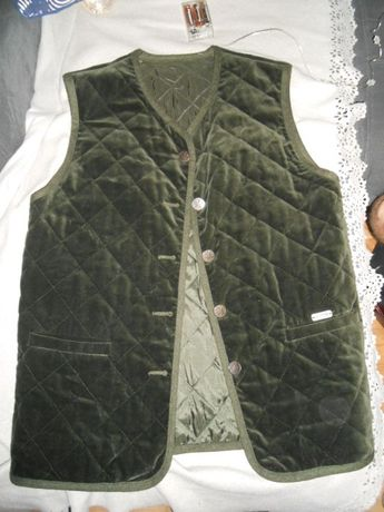 REHLI TRACHT kamizelka bawarska, zielona, pikowana 42
