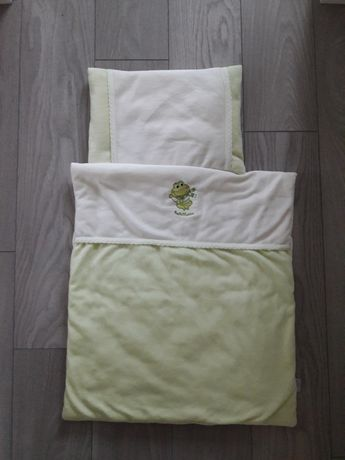 Pościel do wózka BabyMatex welurowa poduszka kołderka Smyk