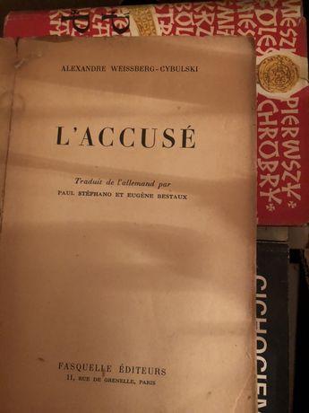 L'Accusé Weissberg Alexandre Cybulski Fasquelle Editeurs książka antyk