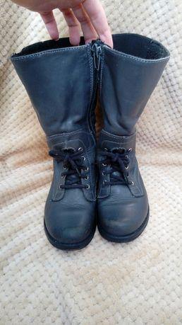 Kozaki buty granatowe ocieplane 28
