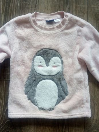 Ciepla bluza z pingwinkiem, roz. 86-92