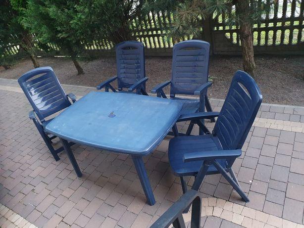 Zestaw ogrodowy stol 4 krzesla