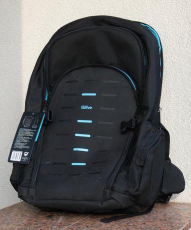 Plecak gamingowy, na laptop 17 cali, wodoodporny, gumowany, NOWY!