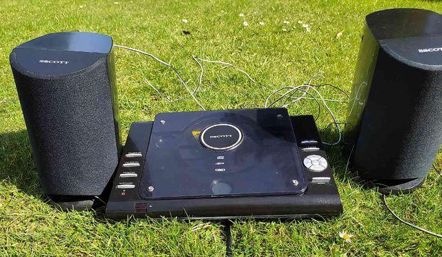 Radioodtwarzacz płyt CD SCOTT ZXT60Vz głosnikami