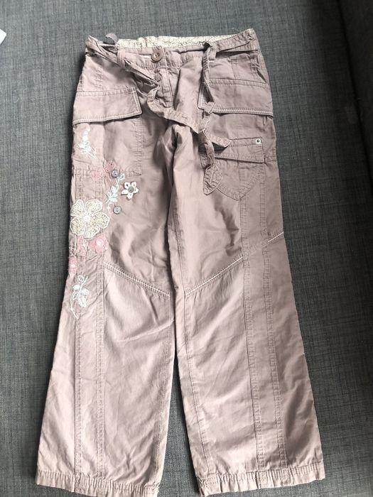 Spodnie Next 122 ocieplane wyszywane kwiatki cekiny Gdańsk - image 1