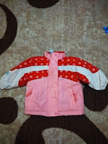 Куртка на дівчинку тепла пуховик, куртка на девочку теплая пуховик