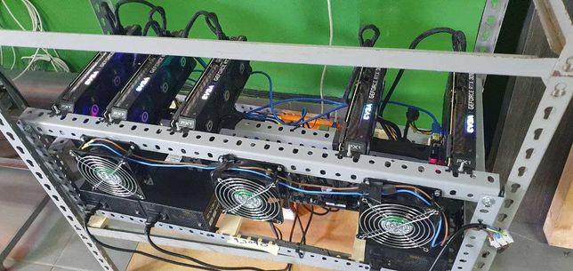 Mining Rig 5x RTX 3090 EVGA XC3