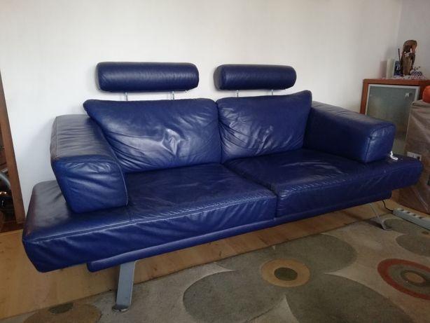 Nowoczesna skórzana kanapa rozkładana b. dobra sprzedam lub zamienie