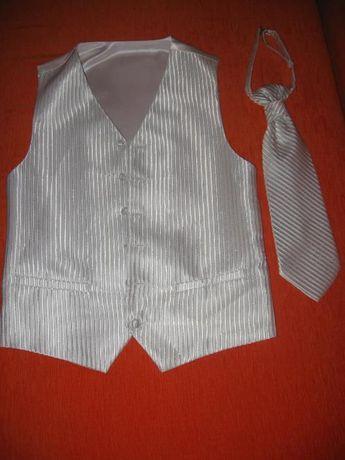 kamizelka ślubna z krawatem rozm.L