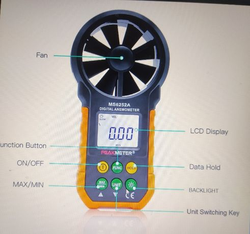 Medidor de vento :anemometro.