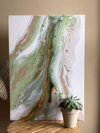 Абстрактная картина. Olive