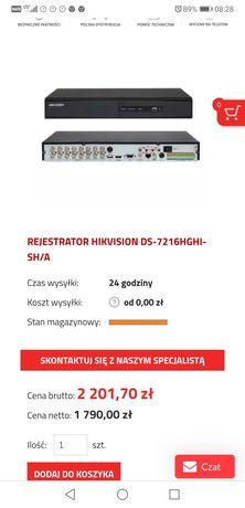 Rejestrator Trybrydowy 16 kamer Full HD OKAZJA! Cena nowego 2200zł