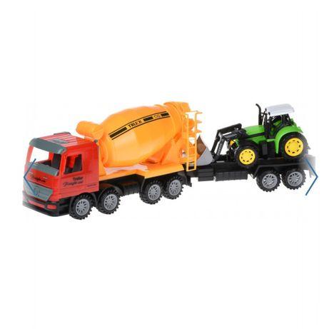 Набір бетономішалка і трактор