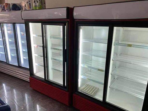 Двухкамерный холодильник, холодильный шкаф, большой стеклянный