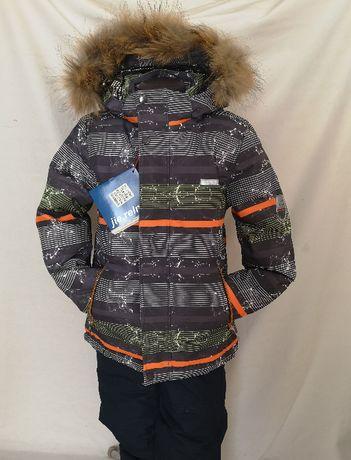 Новый зимний раздельный костюм,баклажанно-серый