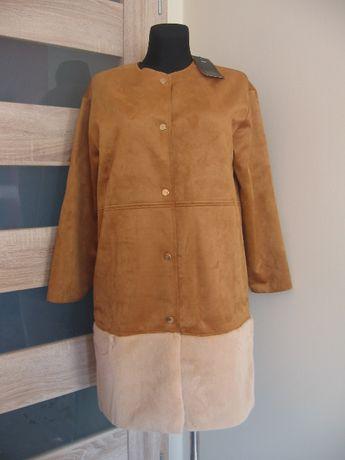 Płaszcz ze sztucznego zamszu ZARA rozmiar M