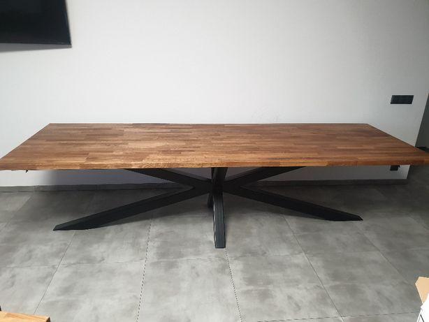 Stół Pająk z blatem dębowym 3m na 1m do 4m loft na wymiar