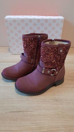 Buty zimowe kozaczki kozaki dla dziewczynki rozmiar 27 cupcake