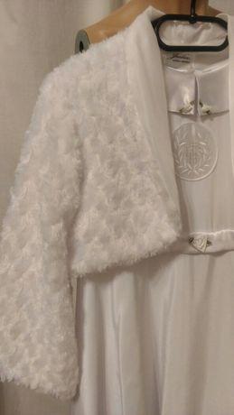 Alba sukienka na pierwszą komunię dla dziewczynki śnieżnobiała