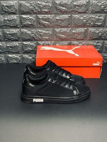 Летние мужские кроссовки Puma, кеды кросовки Пума Черные туфли Топ!