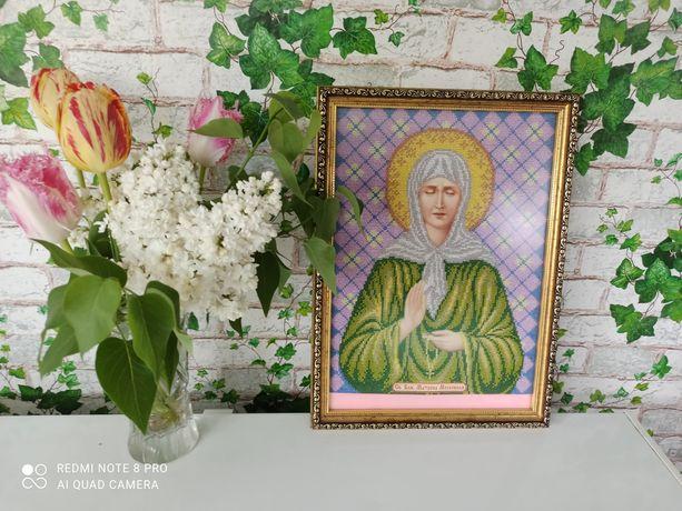 Икона с бисером Св.Матрона Московская