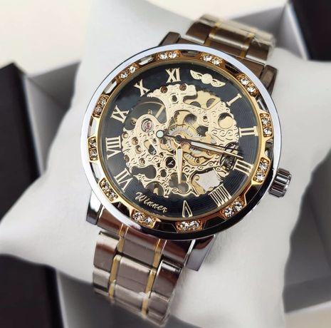 Акция!!!Мужские механические наручные часы Winner Naturale/7 расцветок