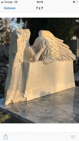 Nagrobek anioł z piaskowca rzeźba anioła pomnik anioła
