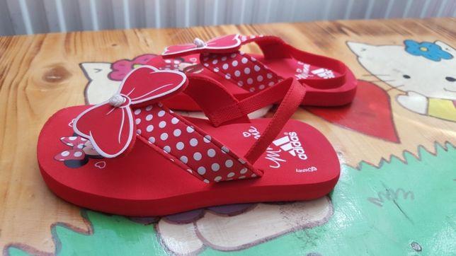 Śliczne sandałki japonki klapki Adidas Myszka Minnie Edycja Limitowana