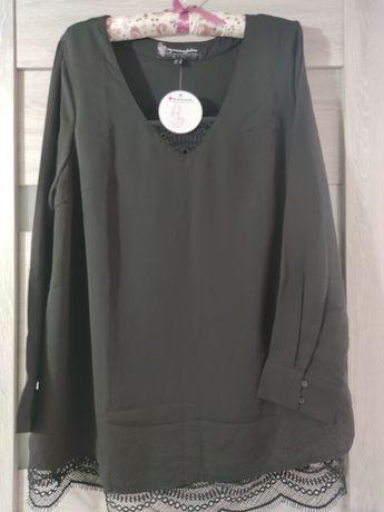 Nowa czarna bluzka z koronka ciążowa mama 44
