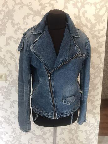 Джинсовая куртка косуха Zara
