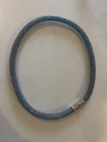 Pulseira/colar da Swarovski original, azul com brilho.