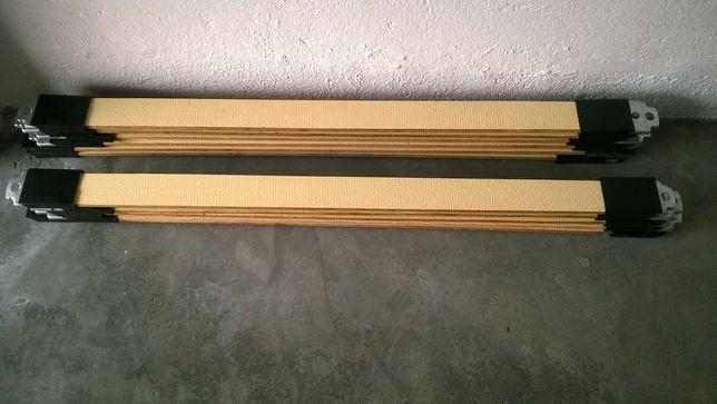 Conjunto de ripas de madeira para estrados ou divãs