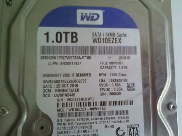 1TB HDD WD 3.5 жёсткий диск