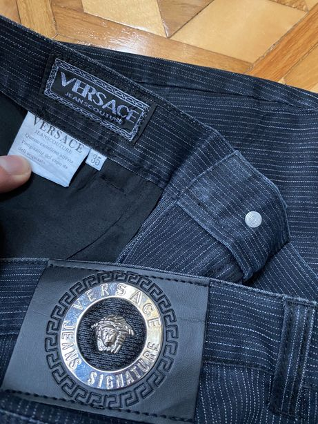 Spodnie meskie Versace Jeans Couture pas 88cm prosty krój