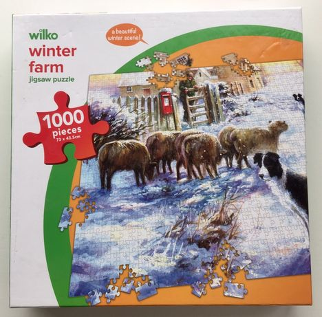 Wilko Winter Farm Puzzle 1000 elem. Zimowa Farma