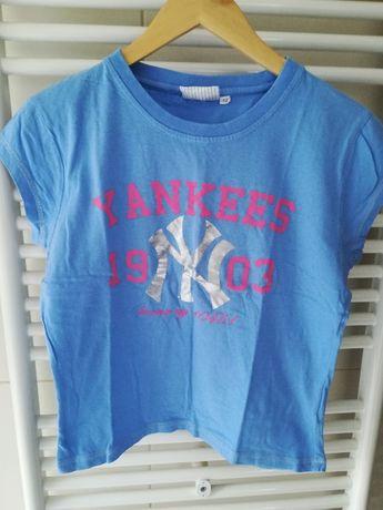 Tshirt niebieski Yankees, r. M